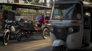 Un «tuktuk» cambodgien.
