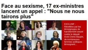 O apelo das 17 ex-ministras publicado neste domingo no Journal du Dimanche.