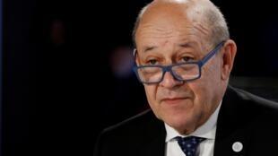 Jean-Yves Le Drian, ministro francês dos Negócios Estrangeiros.