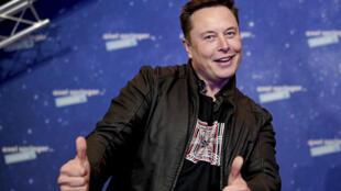 Le PDG de Telsa et SpaceX, Elon Musk, le 1er décembre 2020 à Berlin, en Allemagne.