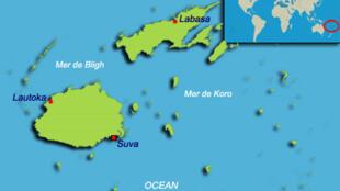 L'archipel des Fidji est constitué de 844 îles, îlots volcaniques et atolls.