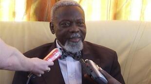 Ange-Félix Patassé, lors d'une conférence de presse à Bangui, en décembre 2008.