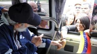 Fidel Castro em aparição pública na Venezuela.
