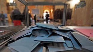 A voting centre in Marseille.