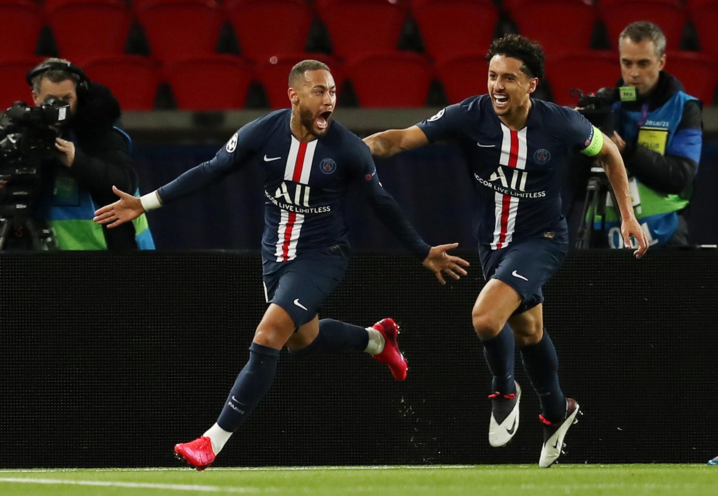 Neymar - Marquinhos - PSG- Paris Saint-Germain - Football