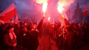 Националистический марш в Варшаве, 11 ноября 2017 г.