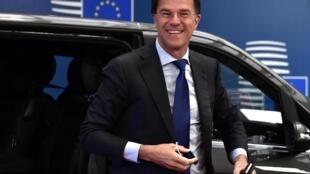 Le Premier ministre néerlandais, Mark Rutte, chef de files des pays frugaux.