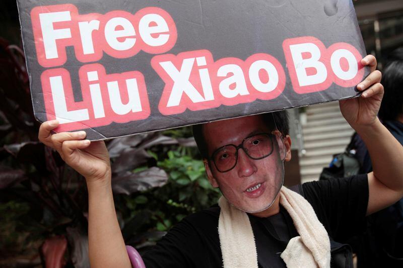 香港民主派聲援劉曉波2010年10月11日