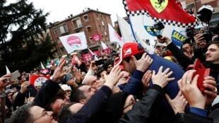 Rassemblement des partisans de la Ligue à Maranello, en Émilie-Romagne, le 18 janvier 2020.