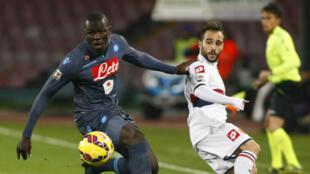 Le défenseur franco-sénégalais Kalidou Koulibaly, ici sous le maillot de Naples, le 26 janvier 2015.
