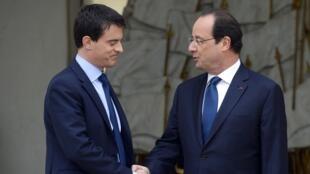 Hollande (à direita) não ficará no Eliseu, Vall (à esquerda) poderá tentar lá chegar