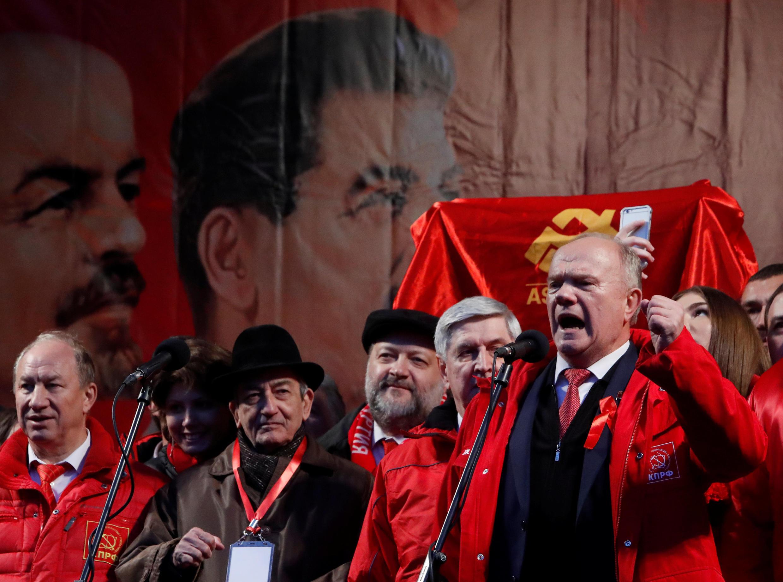 Геннадий Зюганов на праздновании столетия Революции в Москве. 7 ноября 2017