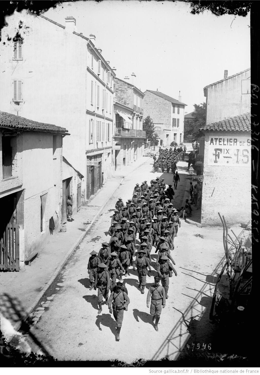 Lính Đông Dương ở Saint-Raphael (miền nam Pháp).