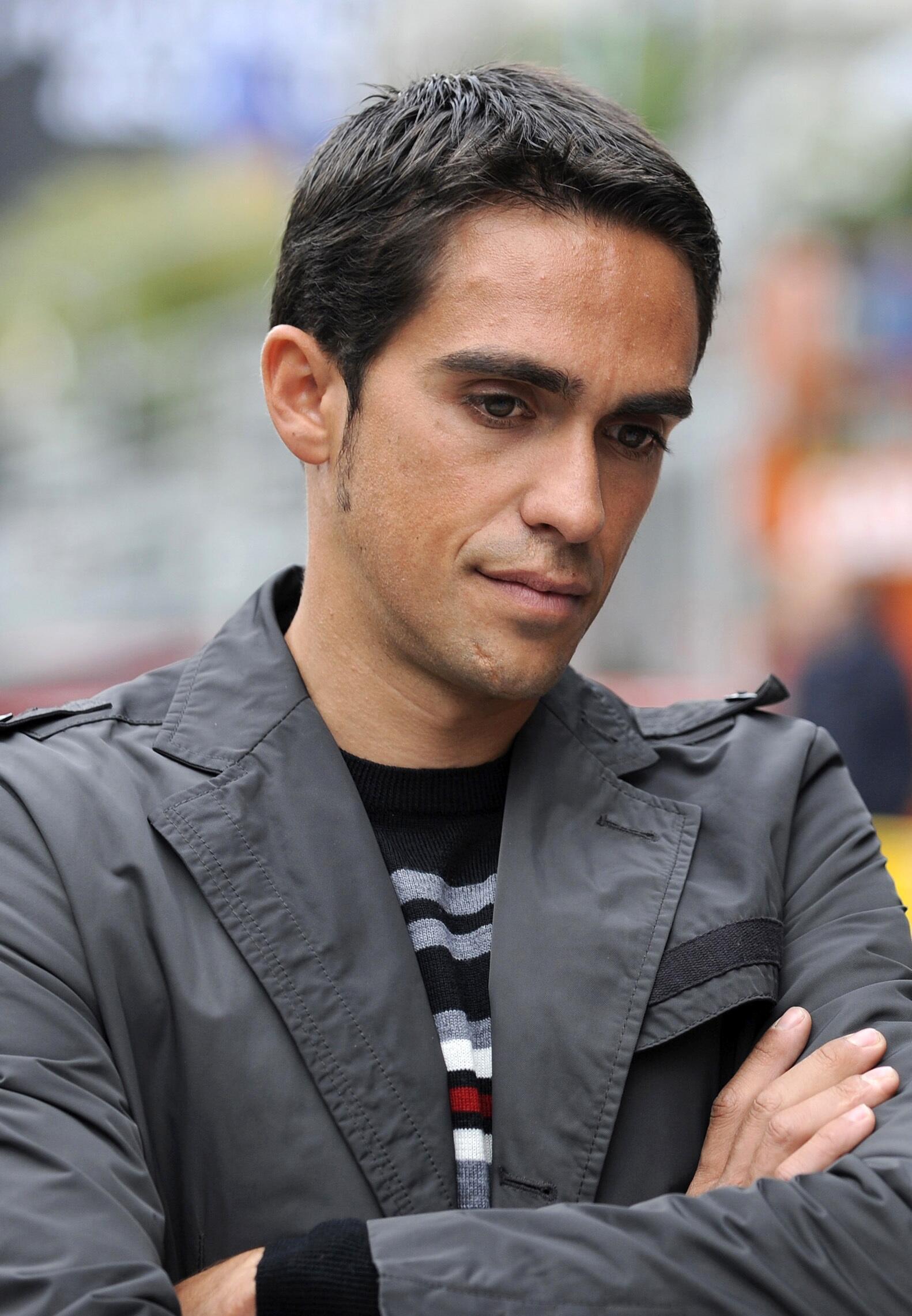 O ciclista espanhol, Alberto Contador.