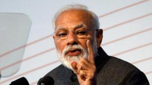 Le Premier ministre indien Narendra Modi. Sa politique hindouiste est contestée par l'opposition.