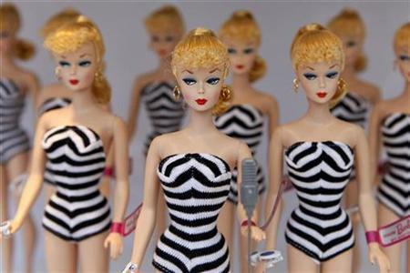 Muñecas Barbie en Shanghai.