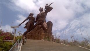 Statue de la Renaissance africaine à Dakar, au Sénégal.