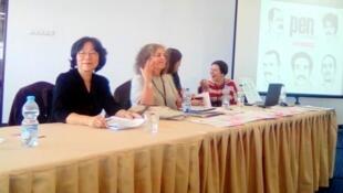 獨立中文筆會會長廖天琪在國際筆會第八十三屆年會上