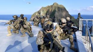 Hàn Quốc cho tập trận gần đảo Dokdo/Takeshima tranh chấp với Nhật Bản, ngày 25/08/2019.