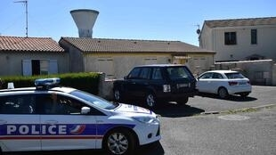 Police near the house of Guy S in Tonnay-Charente