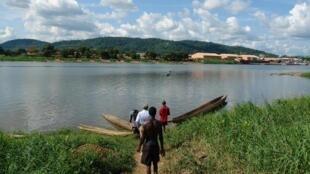 La rivière Oubangui vue de Bangui, Centrafrique. (Image d'illustration)