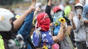 Manifestation d'opposants à Caracas, le 4 mai 2019.