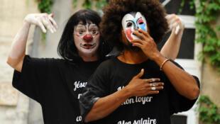 Julien Mabiala Bissila et Adèll Nodé-Langlois : « Le rire pare-balle », présentée au Festival d'Avignon dans le cadre des « Sujets à Vif ».
