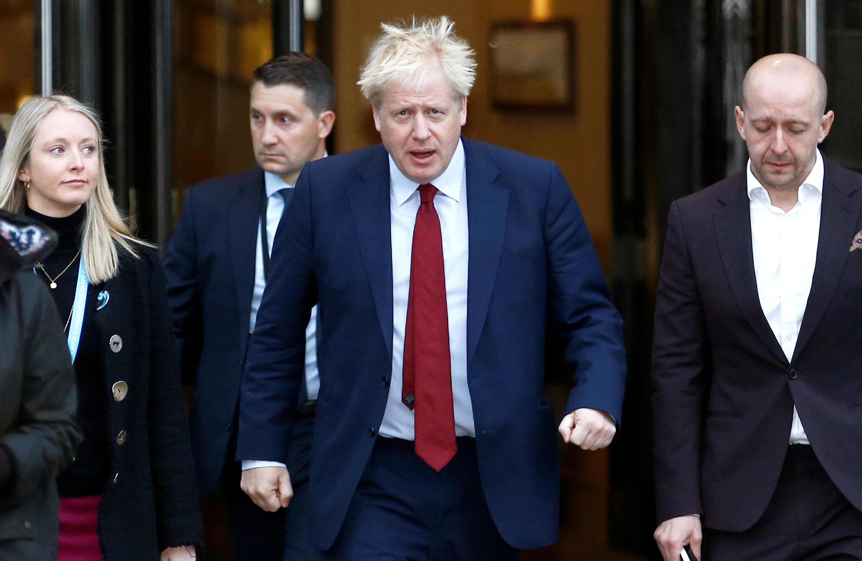 Boris Johnson, le Premier ministre britannique, à Manchester au congrès annuel du parti conservateur, le 30 septembre 2019.