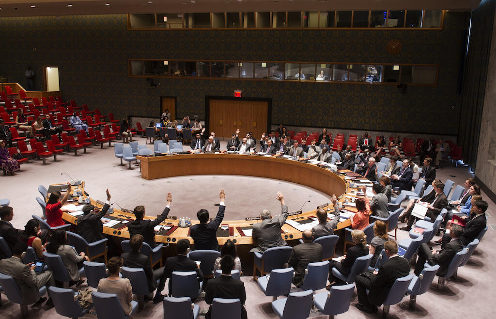 UN Security Council in session