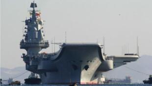 圖為中國航母遼寧號