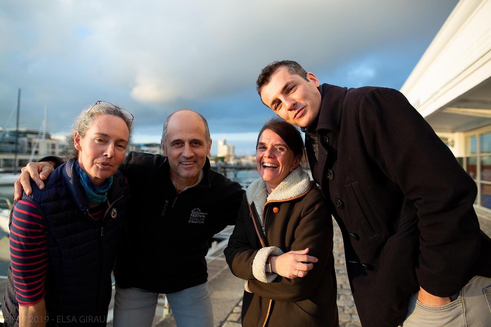 Le jury de la 16e édition du FIFAV au complet, en novembre 2019. De gauche à droite : France Pinczon du Sel, Luc Marescot, Céline Develay-Mazurelle et Cédric Gras.