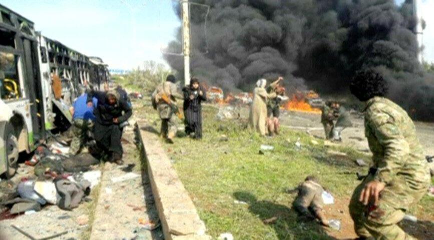 انفجار خودرو در محلی به اسم الراشدین، در نزدیکی حلب رخ داد