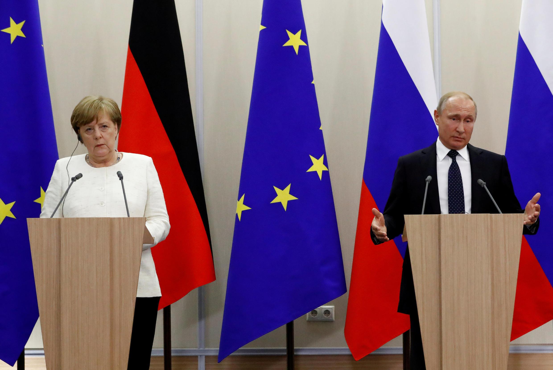 Ангела Меркель и Владимир Путин в Сочи. 18 мая 2018 г.