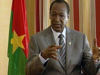 Blaise Compaoré, presidente cessante do Burkina Faso