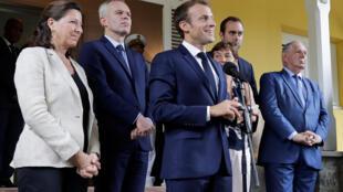 Emmanuel Macron lors d'un discours à la préfecture de Fort-de-France, en Martinique, le 27 septembre 2018.