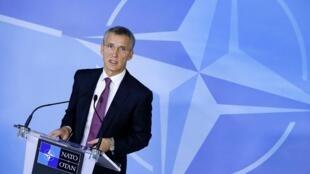 Генеральный секретарь НАТО Йенс Столтенберг на совещании в Брюсселе, посвещенном украинскому кризису