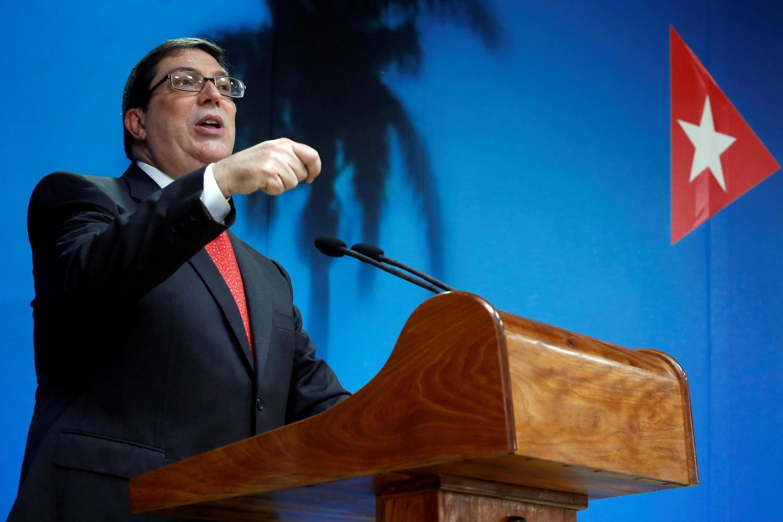 Ngoại trưởng Cuba Bruno Rodriguez trong cuộc họp báo tại La Habana, ngày 20/09/2019.