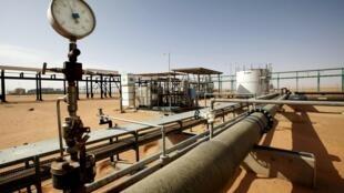 Le champ pétrolier d'al-Sharara, en Libye, à quelque 900 kilomètres au sud de Tripoli.