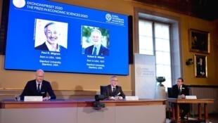2020-10-12 nobel prize economics Paul Milgrom Robert Wilson