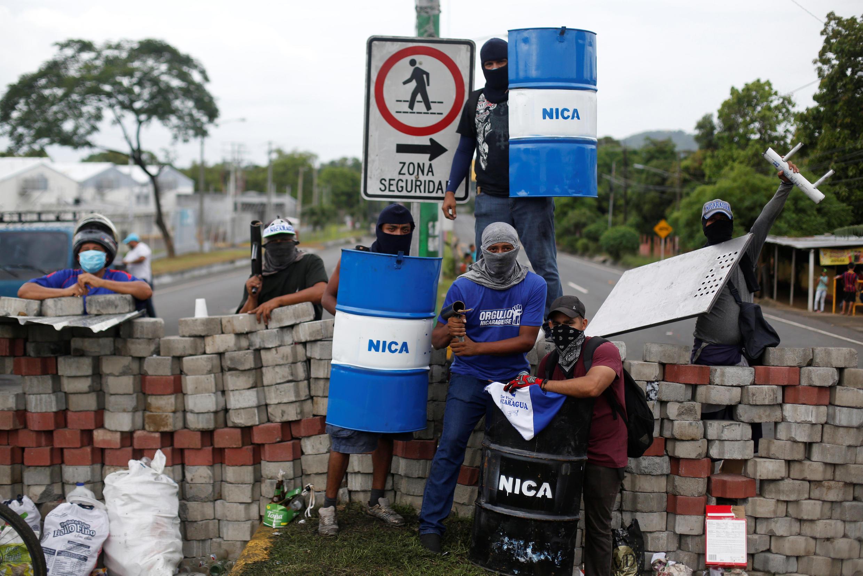 Au Nicaragua, les opposants ne font pas les choses à moitié, ces temps-ci. Nindiri, le 5 juin 2018.