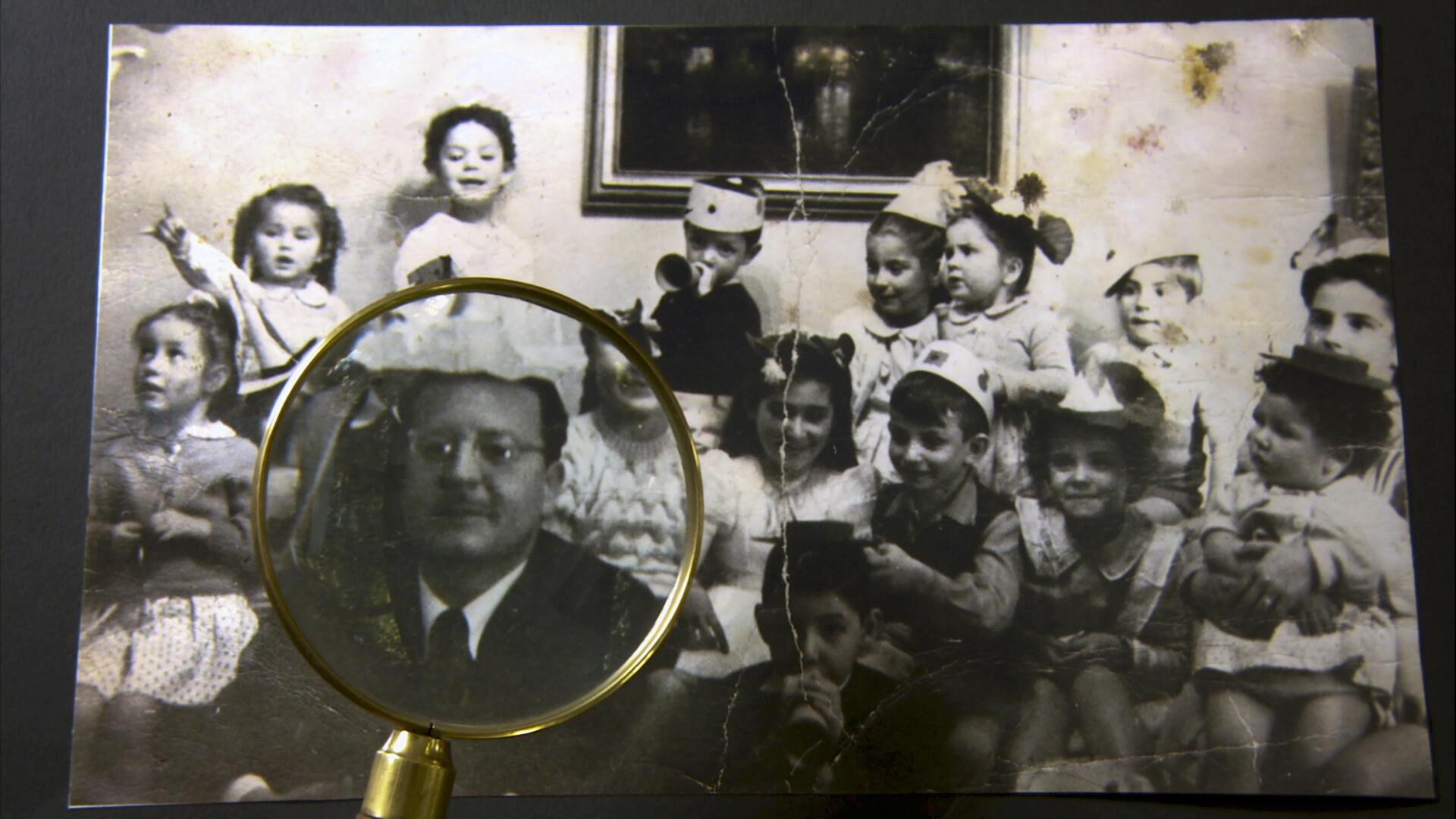 Scène de la vie familiale : fête d'enfants de la famille Allende.