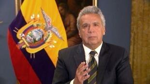Le président équatorien Lenin Moreno, ici le 11 avril 2019.
