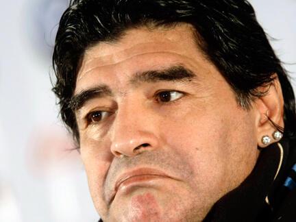Mai horas da 'yan wasan kasar Argentina Diego Armando Maradona
