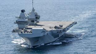 """英国航母""""伊丽莎白女王号""""(HMS Queen Elizabeth R08)"""