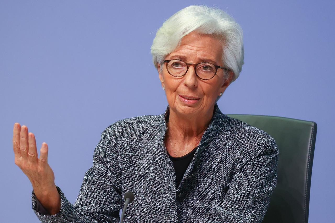 La présidente de la BCE Christine Lagarde, le 12 mars 2020 (image d'illustration).