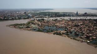Des inondations à Khartoum au Soudan, le 8 septembre 2020.