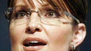 Sarah Palin, ancienne gouverneure de l'Alaska et colistière du candidat républicain, John McCain.
