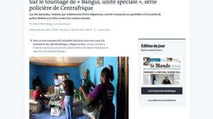 Capture d'écran du site du quotidien Le Monde