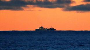 Le bateau de croisière «Grand Princess», dont des passagers ont été testés positifs au coronavirus, au large de San Francisco, le 7 mars 2020.