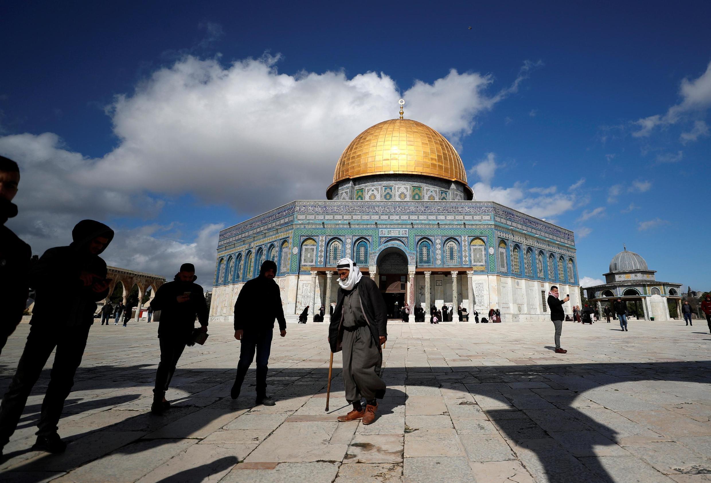 L'esplanade des Mosquées, le 31 janvier 2020, premier vendredi de prière après l'annonce du plan de paix américain.